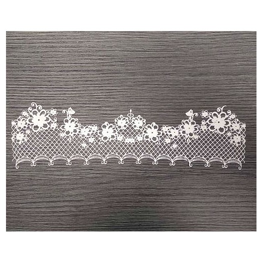 Ελαστικό στοιχείο, Flower Lace, N377, 28x7,5cm