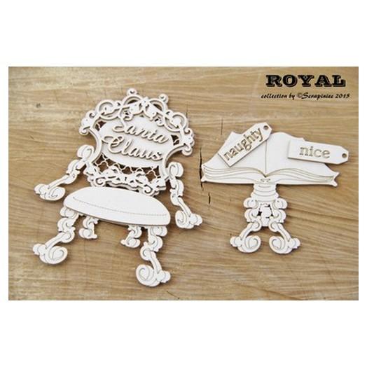 Διακοσμητικό Chipboad Royal Santa's Place , 7,5x10 cm