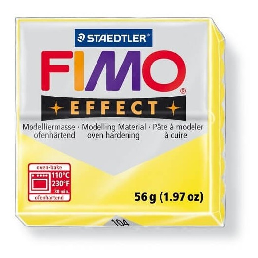 Fimo Effect 56gr Transparent Yellow
