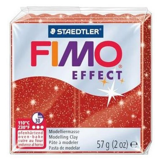 Fimo Effect 56gr Glitter Red