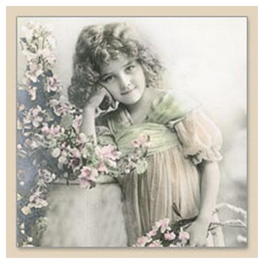 Χαρτοπετσέτα για Decoupage Vintage FLOWER GIRL, 1τεμ.