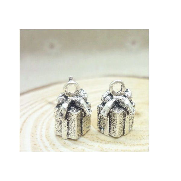 Antique silver - Gift for you - 25x14mm - 6 τεμ.