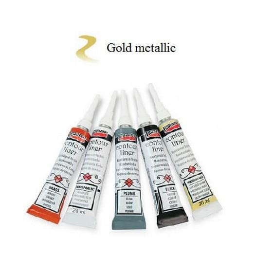 Contour Liner Pentart 20ml - Gold Mettalic