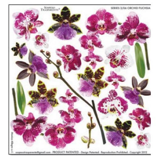 Τυπωμένo φύλλο-Ζελατίνη για Sospeso, Orchid Fuchsia