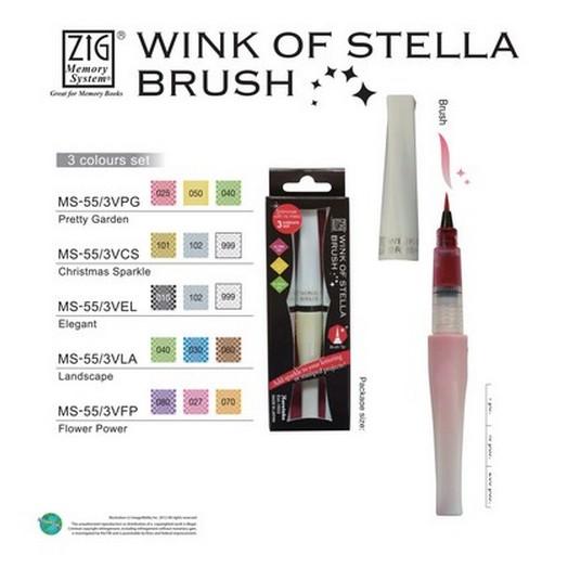 Πινέλο ZIG Stella Brush- Dark Pink
