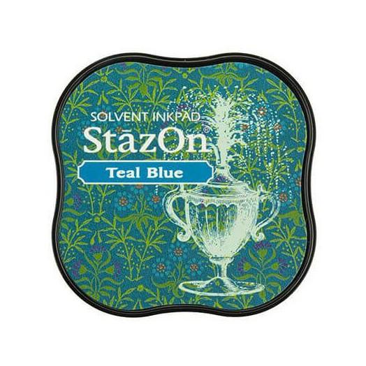 Μελάνι Ανεξίτηλο για σφραγίδες, Stazon Teal blue