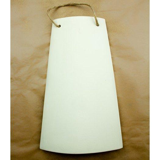 Κεραμίδι πήλινο λευκό με σχοινάκι 15,5x25cm
