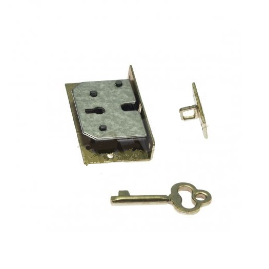 Κλειδαριά (mortise lock) με κλειδάκι, 4x2.2cm