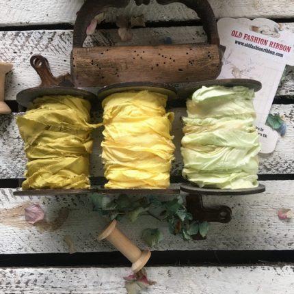 Κορδέλες vintage, Old Yellow set, 3 τεμ