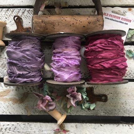 Κορδέλες vintage, Old Purple set, 3 τεμ