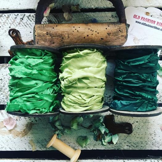 Κορδέλες vintage, Old Green set, 3 τεμ
