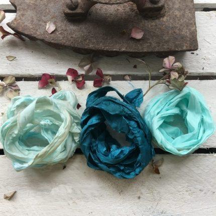 Κορδέλες vintage, Old Turquoise set, 3 τεμ