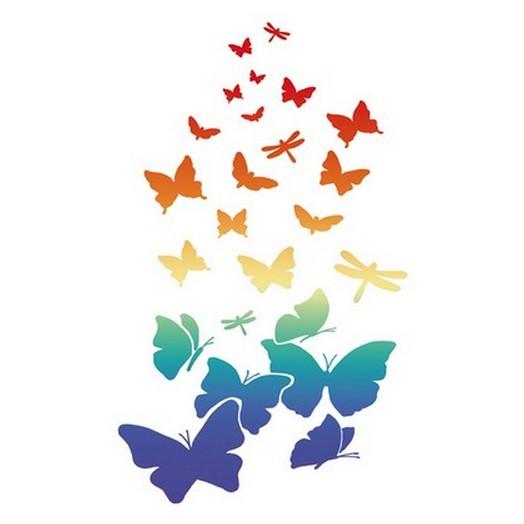 Stencil 21x29,7cm Butterflies, Stamperia