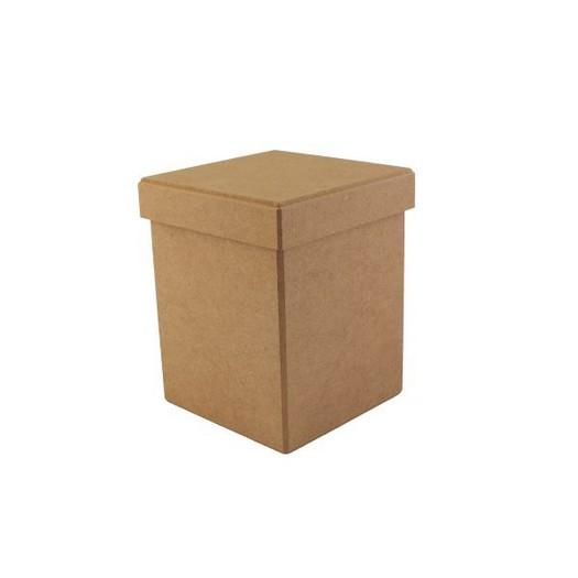 Κουτί με αποσπώμενο καπάκι MDF, 14x14xY18cm