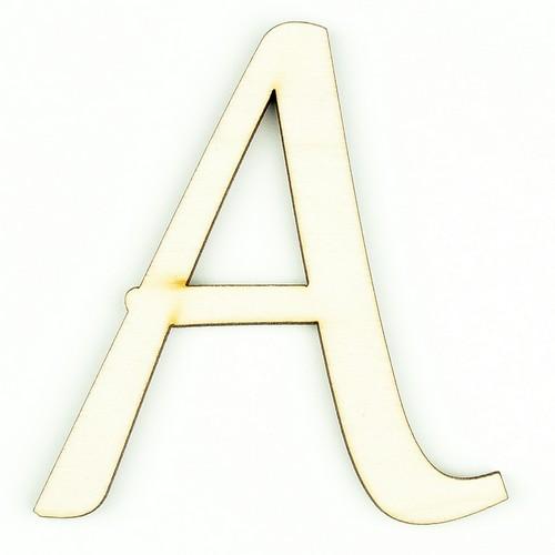 Ξύλινο γράμμα 9cm, πάχος 5mm, Α