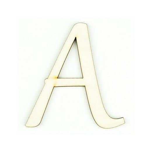 Ξύλινο γράμμα 6cm, πάχος 5mm, Α