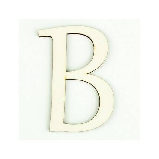 Ξύλινο γράμμα 6cm, πάχος 5mm, Β