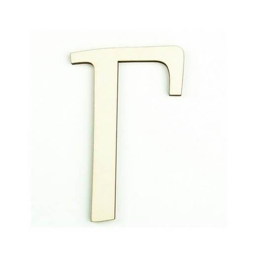 Ξύλινο γράμμα 6cm, πάχος 5mm, Γ