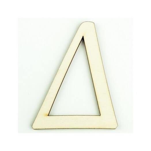Ξύλινο γράμμα 6cm, πάχος 5mm, Δ
