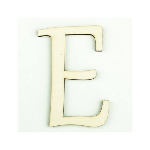 Ξύλινο γράμμα 6cm, πάχος 5mm, Ε