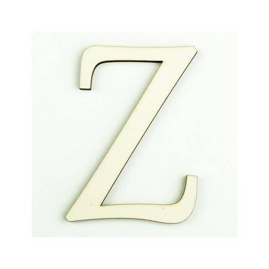 Ξύλινο γράμμα 6cm, πάχος 5mm, Ζ