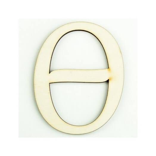 Ξύλινο γράμμα 6cm, πάχος 5mm, Θ