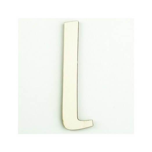 Ξύλινο γράμμα 6cm, πάχος 5mm, Ι