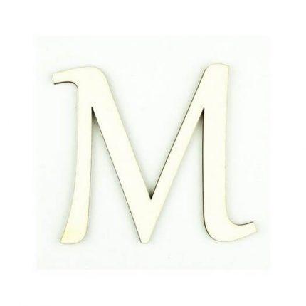 Ξύλινο γράμμα 6cm, πάχος 5mm, Μ