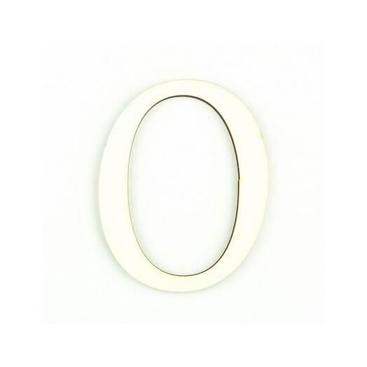 Ξύλινο γράμμα 6cm, πάχος 5mm, Ο