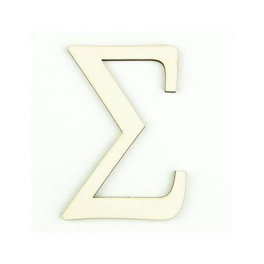 Ξύλινο γράμμα 6cm, πάχος 5mm, Σ