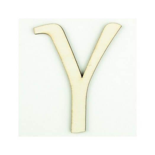 Ξύλινο γράμμα 6cm, πάχος 5mm, Υ