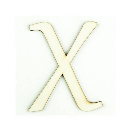 Ξύλινο γράμμα 6cm, πάχος 5mm, Χ