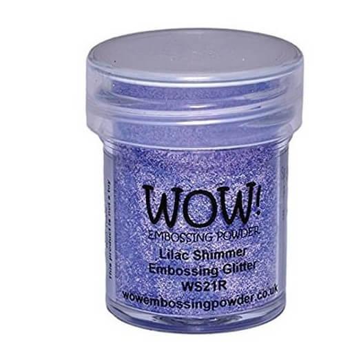 Σκόνη Embossing 15ml WOW, Lilac Shimmer