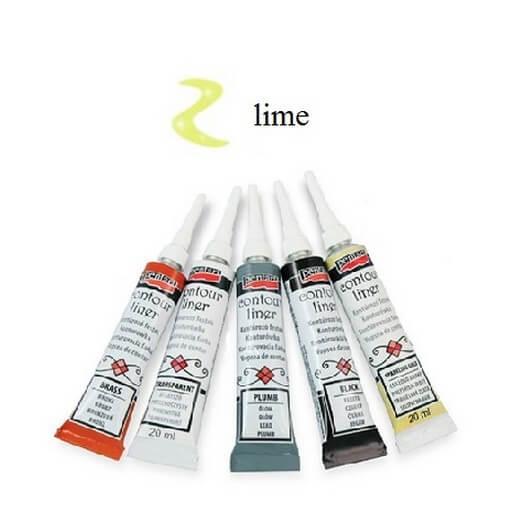 Contour Liner Pentart 20ml - Lime