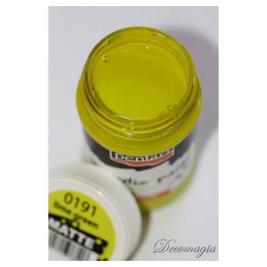 Χρώμα ακρυλικό Pentart 100ml, Lime green 100ml