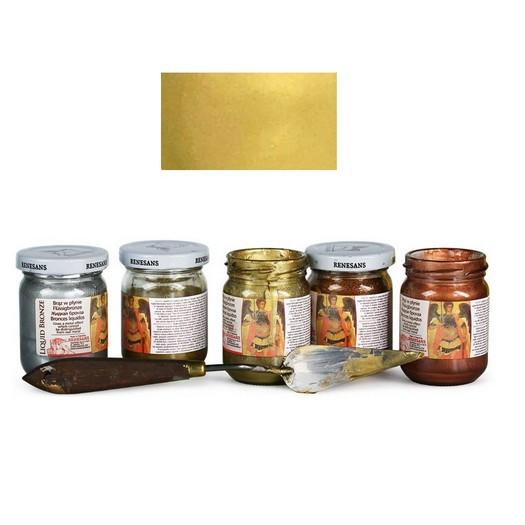 Φύλλο χρυσού Yγρό Renesans Liquid metal 100ml - Brass