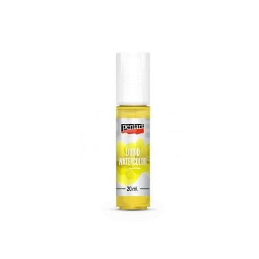 Liquid watercolor, χρώμα ακουαρέλας Pentart 20ml lemon