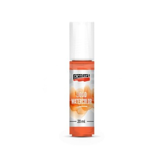 Liquid Watercolor, Χρώμα Ακουαρέλας Pentart 20ml, Orange