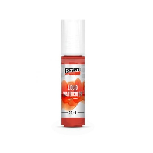 Liquid Watercolor, Χρώμα Ακουαρέλας Pentart 20ml, Red