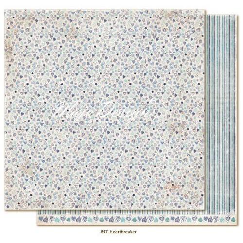 Χαρτί Scrapbooking Maja Collection,Denim & Friends -  Heartbreaker, διπλής όψης