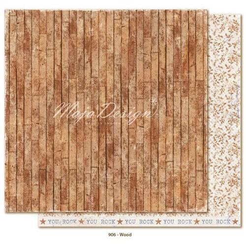 Χαρτί Scrapbooking Maja Collection,Denim & Friends - Wood, διπλής όψης