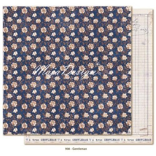 Χαρτί Scrapbooking Maja Collection,Denim & Friends - Gentleman, διπλής όψης