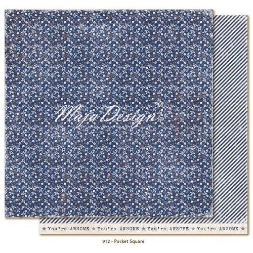 Χαρτί Scrapbooking Maja Collection,Denim & Friends - Pocket square, διπλής όψης