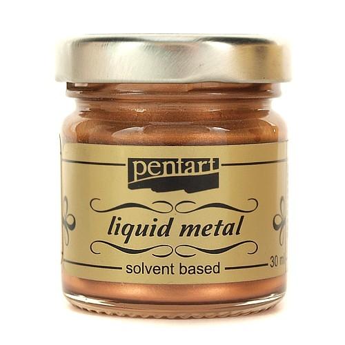 Φύλλο χρυσού Yγρό Pentart Liquid metal 30ml - Cooper