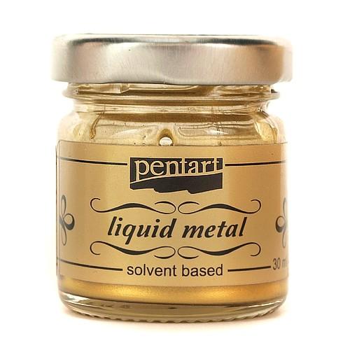 Φύλλο χρυσού Yγρό Pentart Liquid metal, Antique Gold 30ml