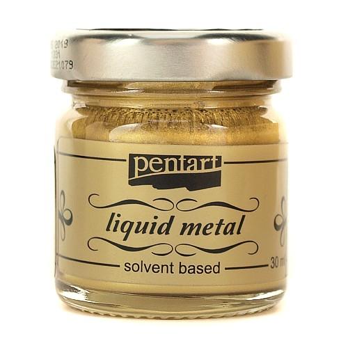 Φύλλο χρυσού Yγρό Pentart Liquid metal, Gold 30ml