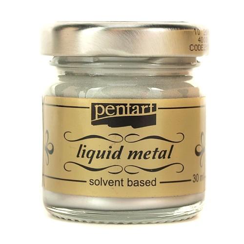 Φύλλο χρυσού Yγρό Pentart Liquid metal 30ml - Silver