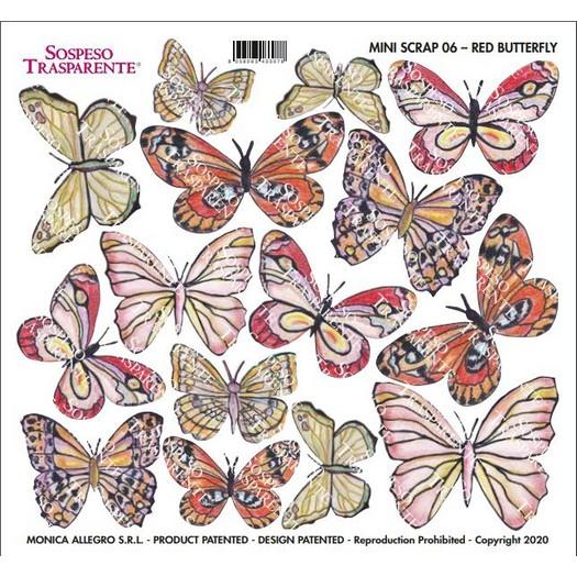 Διαφάνεια για Sospeso 16x17cm, Mini Scrap Red Butterfly, MS06