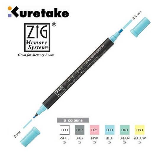 Μαρκαδόρος Chalk pastel colours CALLIGRAPHY διπλός - Blue