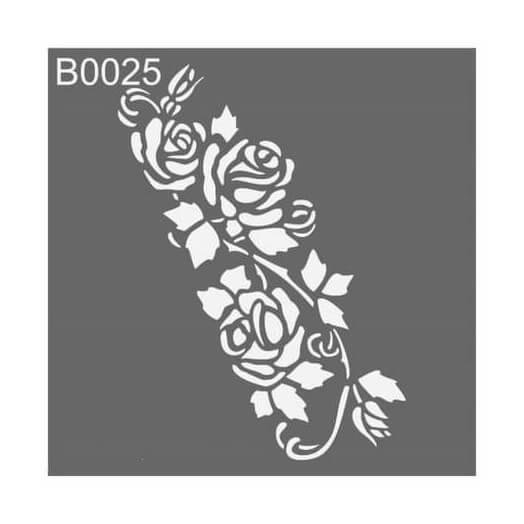 Stencil 30x30cm, Flower Garland